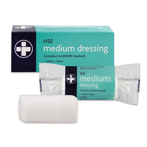 Medium HSE Dressing 12cm x 12cm Boxed
